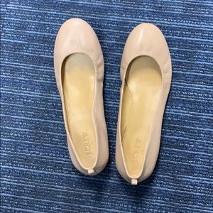 NWOT Pink leather JCrew Flats